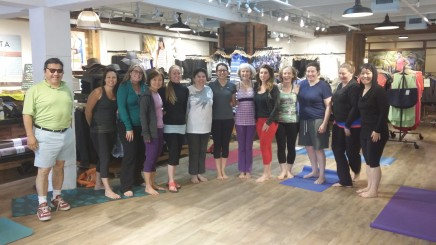 After a yoga class of women.  We welcome men too!