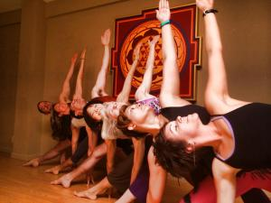 Trika with Noah May 25, 2014 close up Yoga Tree Mission