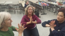 Teaching Yoga for Wirist & Hands at Tranisition Holiday Share Faire 12-14-2014 2