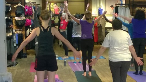 Feeling Good Yoga Sunday at Athleta